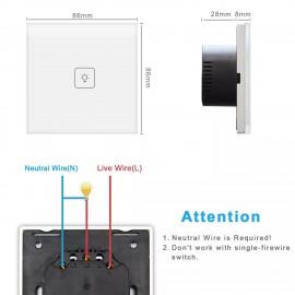Prize si intrerupatoare - Intrerupator Smart Tuya Wifi  JX15.02